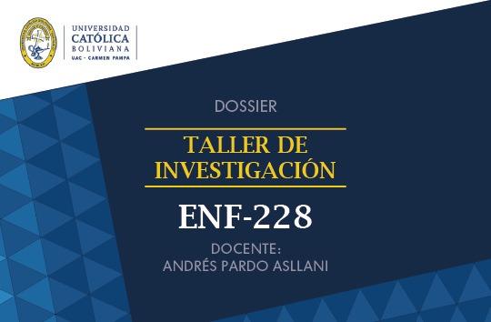 ENF-228 Taller de Investigación