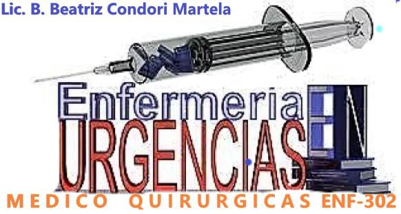 ENF-302 Urgencias Medico Quirúrgicas